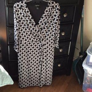 Whit House Black Market faux wrap dress